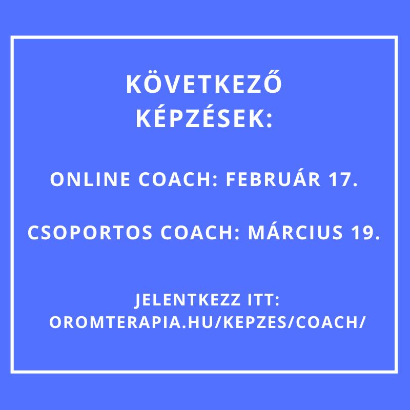 A következő coach képzések
